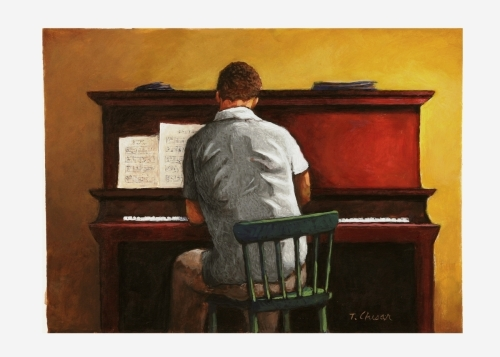 The Piano Player by Tom Chesar