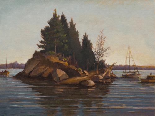 Island Sanctuary by Tom Chesar