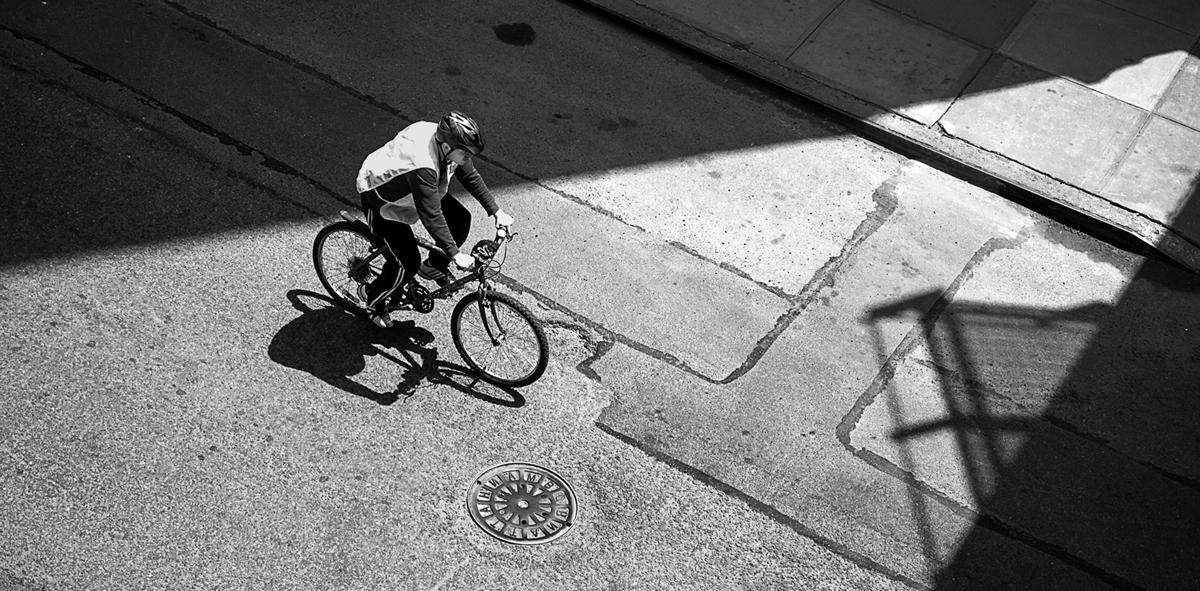 Biking Through (large view)