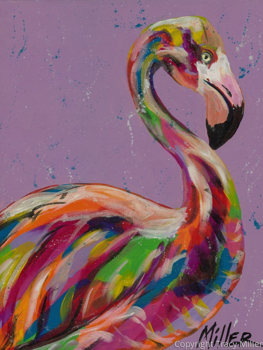 Flamingo in Lilac (large view)