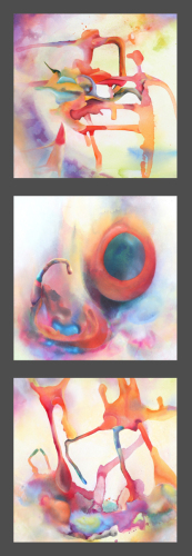 Sacred Space for Myself (triptych)