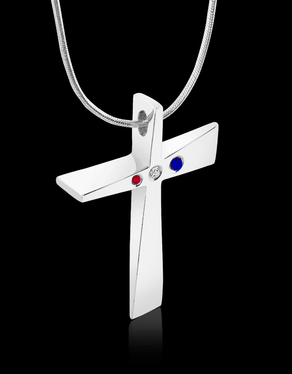 American Trinity Cross Pendant<Br><Br> (large view)