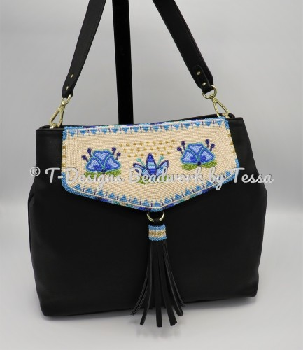 Egg Shell Floral Purse