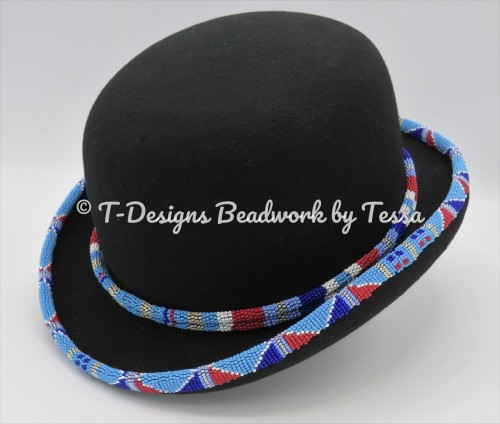 Derby Style Beaded Hat