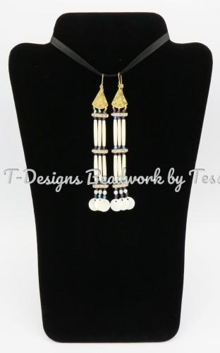 10KT Gold drop earrings by T-Designs Beadwork
