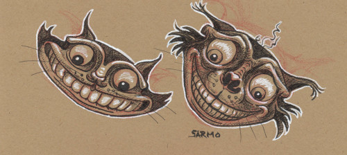 Cheshire Cat sketches