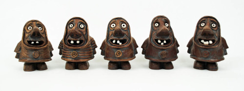Five Gnome Sculptures