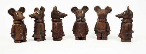 Six Mice Sculptures