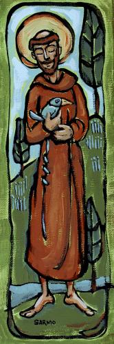 Saint Francis and the Worried Bird