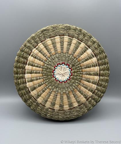 Sweetgrass Flat Basket 2