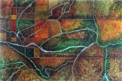 San Miguel Cloisonné  by Tom Stevens Fine Art