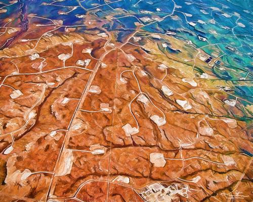 Fracking Wyoming by Tom Stevens Fine Art