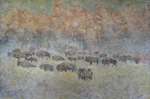 Bison Fog by Tom Stevens Fine Art