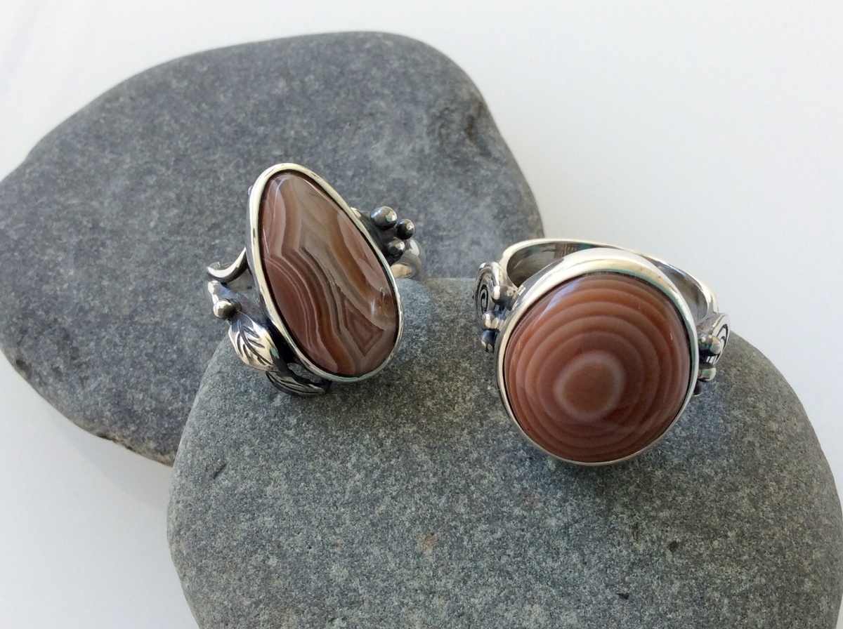 Lake Superior Agate Rings (large view)