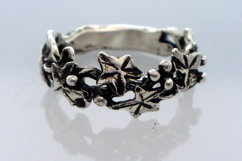 Jewelry Silver Ivy Wreath Ring Original Art By Terri Reinke