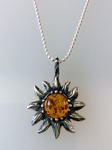 Amber Sun Pendant