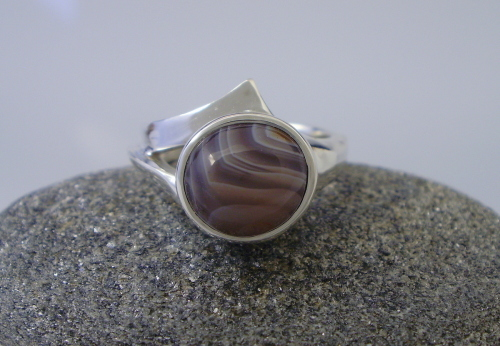 10mm Lake Superior Agate Ring