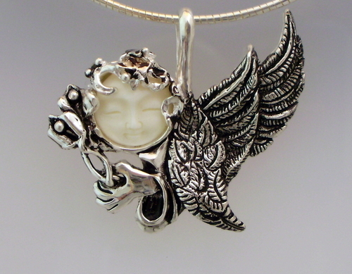 Flying Angel Silver Necklace