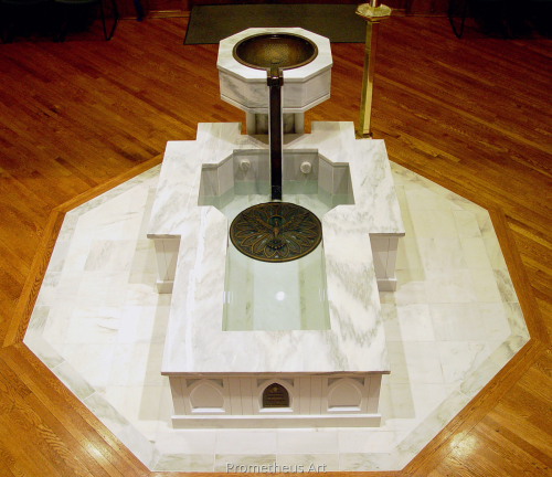 St Paul Catholic Church Baptismal Font