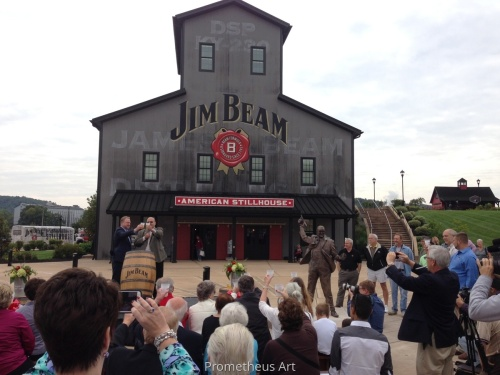 Bronze Portrait of Jim Beam Unveiling