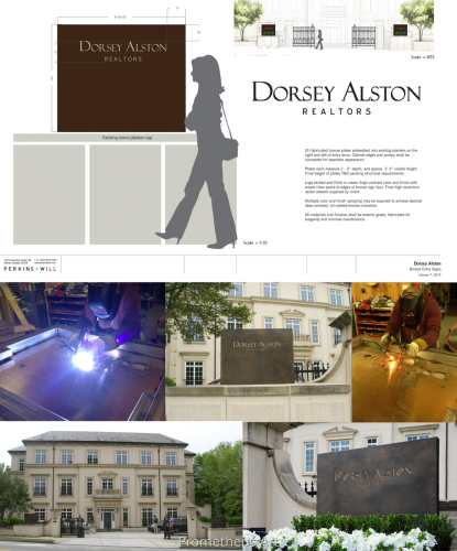 Architectural Rendering for Dorsey Alston Realtors Bronze Signs