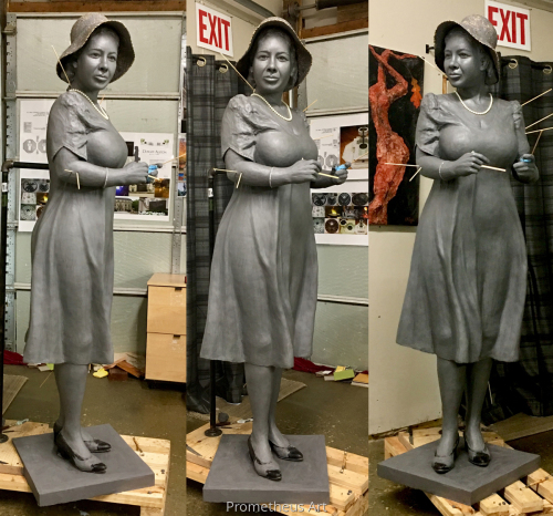 Alice Dunnigan in clay
