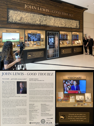 John Lewis Civil Rights Installation