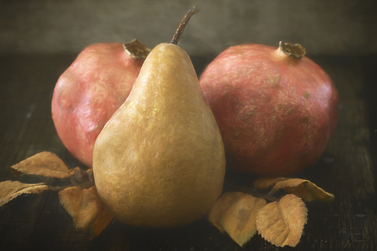 Pomegranates And A Pear (large view)