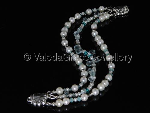Pearl Aquamarine Bracelet