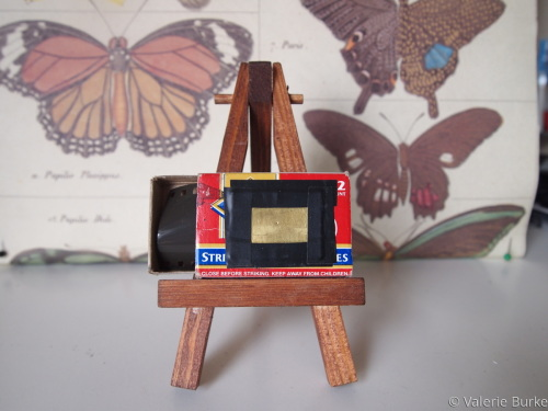 Matchbox pinhole camera.