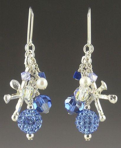 Phoenix Snowflake Earrings (BL0015) by Valerie Hildebrand