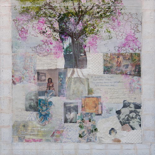 Mixed Media--On CanvasTrees Are Poems (#2 of series)