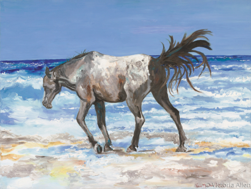 Horse on the Beach at Padre Island, Texas
