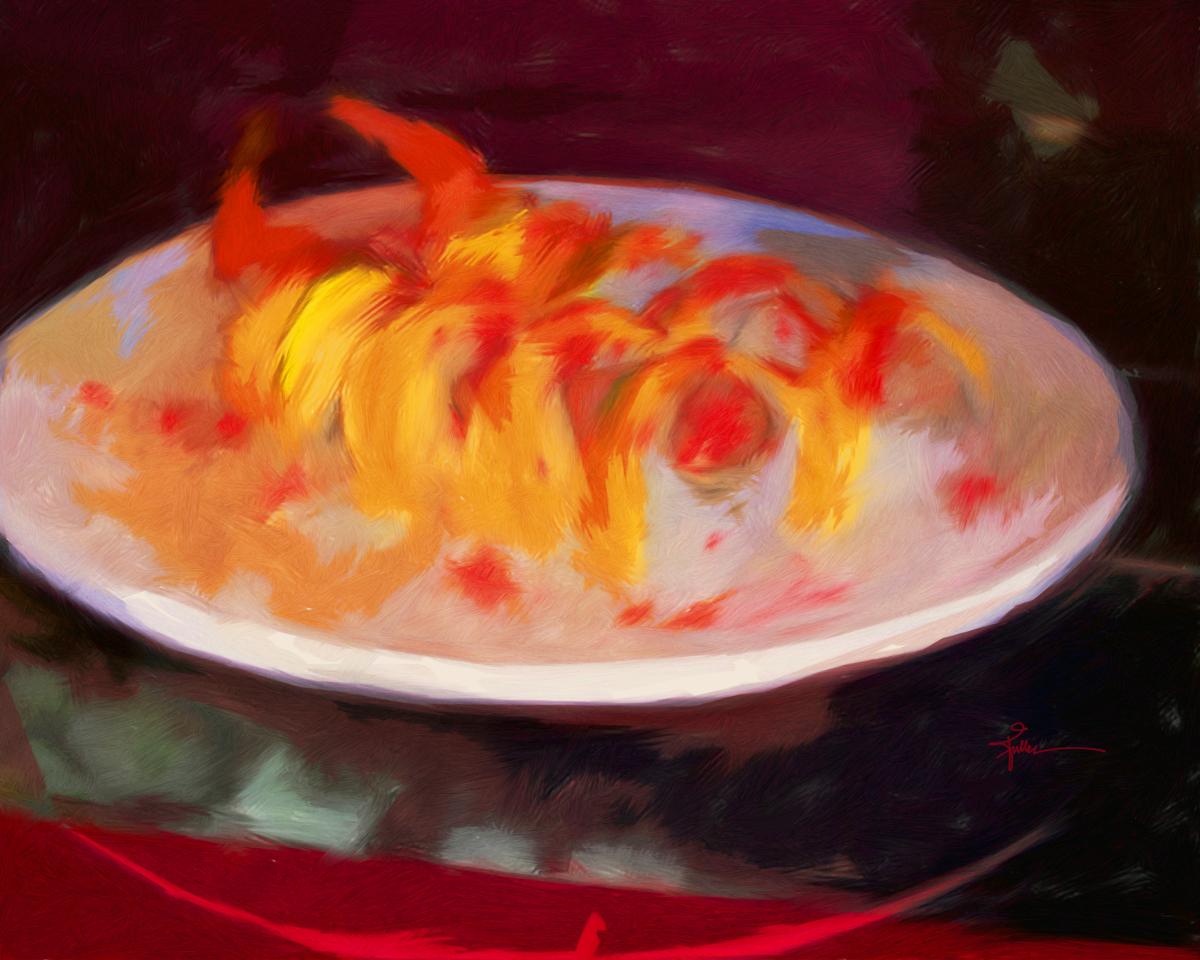 Mango Shrimp Sushi (large view)