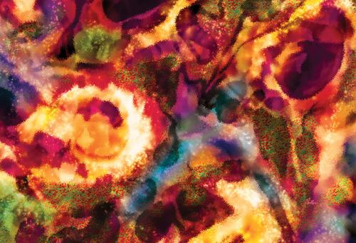 Flowers In a Garden by Van Evan Fuller