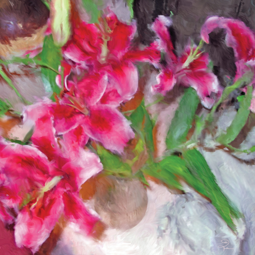 A Vase Of Lilies