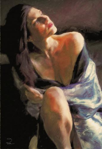 Cristi In a Silken Robe