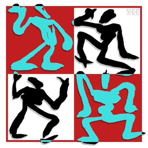 Four Sumi-e Figures