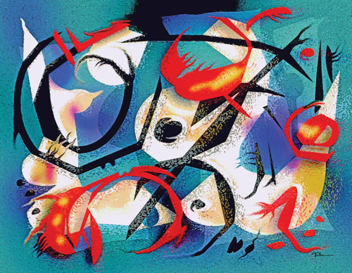 Fisherwoman and Crustaceans
