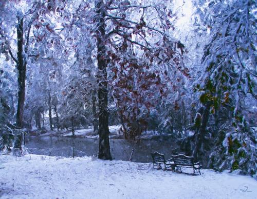 Louisiana Snowfall