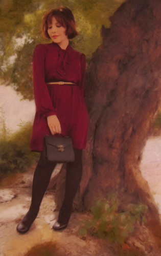 Marcela, the Wine Colored Dress
