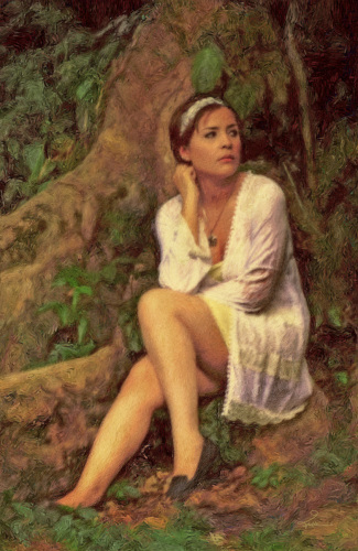 Marci In White, In an Ancient Forest