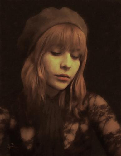 Marci, Brown Portrait