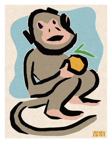 Monkey With an Orange
