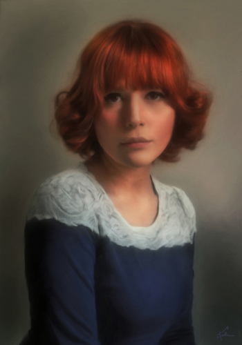 Portrait of Ms. Marci Lopez In a Lace Collar