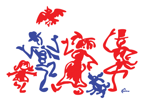 Red Meets Blue At the Scribbleman Stomp