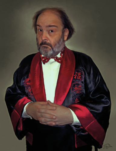 Self-Portrait In a Chinese Smoking Jacket