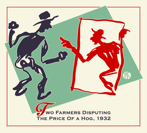 Three Farmers Disputing the Price Of a Hog, 1932