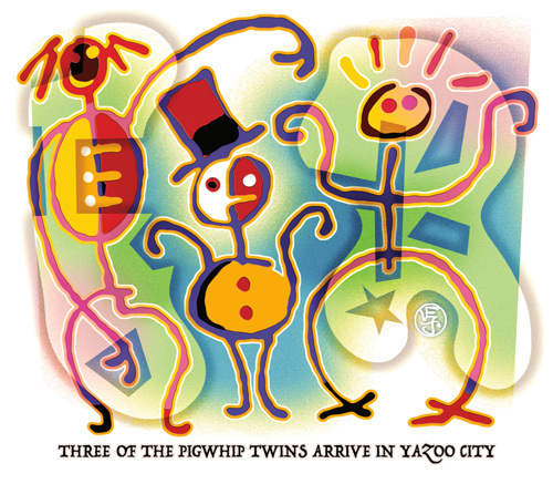 Three Of the Pigwhip Twins Arrive In Yazoo City