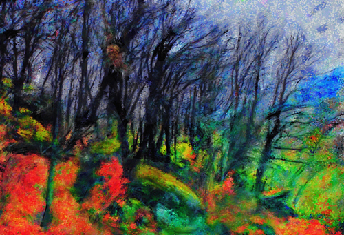 Trees On a Spanish Hillside